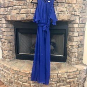 NWT Calvin Klein royal blue maxi dress